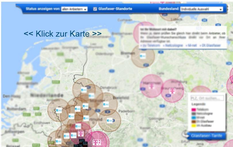 Telekom Glasfaserausbau Karte.Glasfaser Internet Verfügbarkeit Infos Und Karte