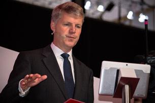 Jens-Schulte-Bockum, Vodafone CEO, auf der PK zur IFA 2014