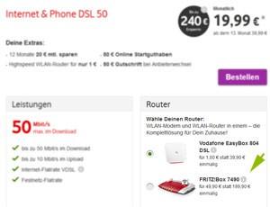 Fritzbox 7490 bei Vodafone