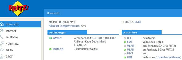 Update auf FritzOS 6.80