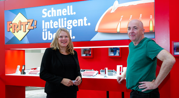 Rechts: Joachim Töpel von AVM