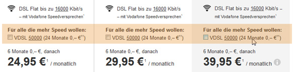 Vodafone VDSL-Aktion